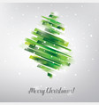 christmas tree in modern vibrant style symbol vector image vector image
