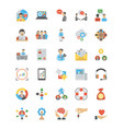 collection of human resource flat icon vector image