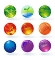 color transparent spheres and globes vector image
