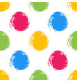 colorful polka dot seamless pattern vector image