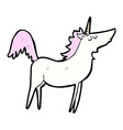 comic cartoon unicorn vector image