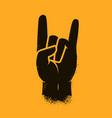 cool hand gesture symbol heavy metal rock vector image