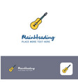 creative guitar logo design flat color logo place vector image vector image