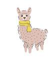 cute alpaca isolated cartoon vector image vector image