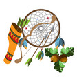 dreamcatcher indians talisman objects of magic vector image vector image