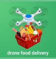 e-commerce concept order food online website vector image vector image