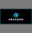 fd hexagon logo design inspiration vector image vector image