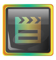 film grey square icon with yellow and green vector image vector image
