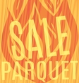 fire sale of parquet wooden background vector image vector image