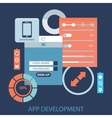Flat design concept for app development with vector image