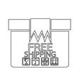 free shipping box icon symbol design vector image
