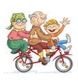 Fun Bike Ride vector image