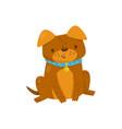 funny dog cute domestic pet animal cartoon vector image vector image