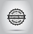 gluten free grunge rubber stamp on white vector image vector image