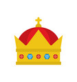 gold royal crown vector image
