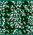green petals trees colorful abstract seamless vector image vector image