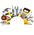 hand tools blank frame vector image vector image