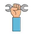 hand with wrench icon vector image vector image
