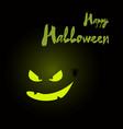 Happy halloween card with pumpkin vector image