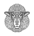 Head sheep Ethnic patterns Hand drawn vector image