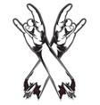 horn hands vector image vector image