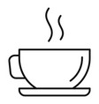 hot coffee cup icon outline style vector image vector image