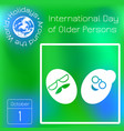 international day of older person the faces of vector image vector image