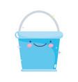 kawaii gardening cartoon happy bucket character vector image
