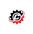 letter c gear logo design template vector image