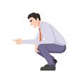 man squat threatening or yelling quarreling kid vector image