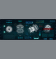 mechanical scheme hud style vector image vector image