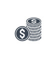 money coins related glyph icon vector image vector image