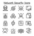 network security internet firewall icon set vector image vector image