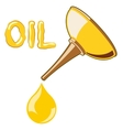 Oil Lubricator with oil vector image vector image