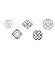 ornament logos vector image vector image