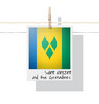 photo of saint vincent and the grenadines flag vector image