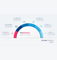 pie chart infographic template in form vector image vector image