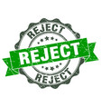 reject stamp sign seal vector image vector image