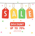 sale discount special offer weekend tag vector image vector image