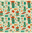 save robots pattern vector image