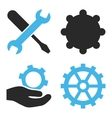 Service Tools Flat Icons vector image
