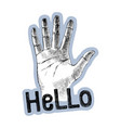 sketched palm hand gesture vector image