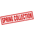spring collection red square grunge stamp on white vector image vector image