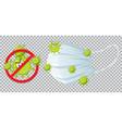 stop virus wearing mask vector image vector image