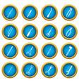 surgeons tools icons blue circle set vector image vector image