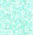 Teal circle pattern background design vector image vector image