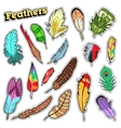 Tribal Feathers Decorative Elements for Scrapbook vector image vector image