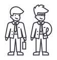 young businessmen line icon sign vector image vector image
