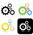 gears icons vector image