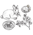 Hand Drawn Easter Set vector image